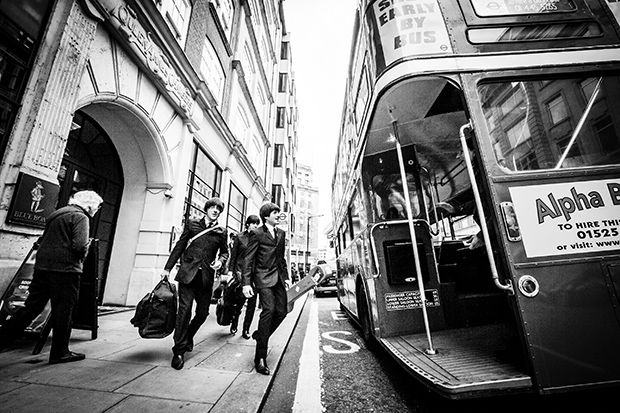 London beatles bus