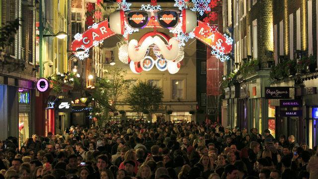 Encendido de las luces de navidad en Londres