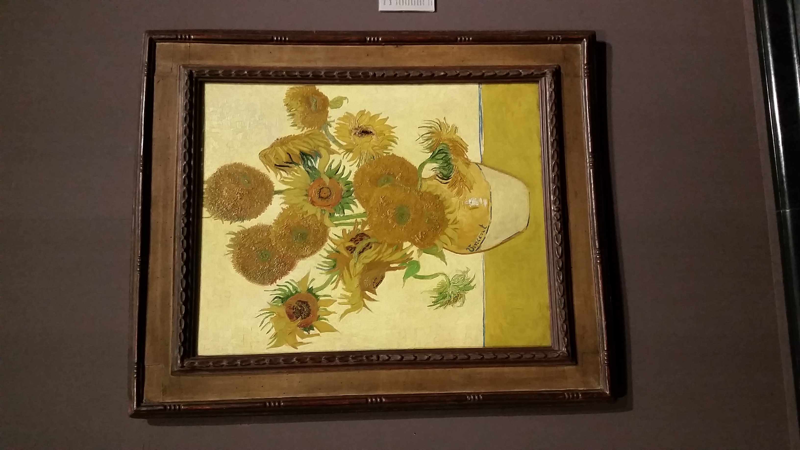 Tour Privado de National Gallery, Cuadro de vincent van gogh