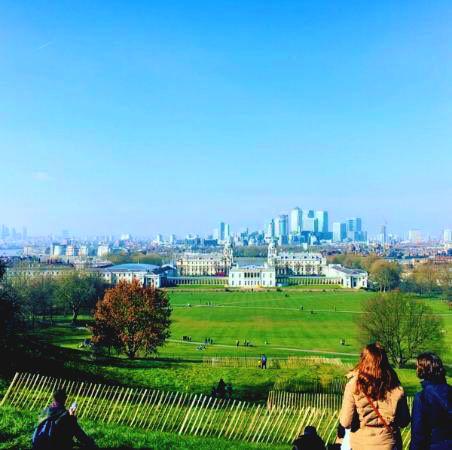 Vistas desde el parque de Greenwich