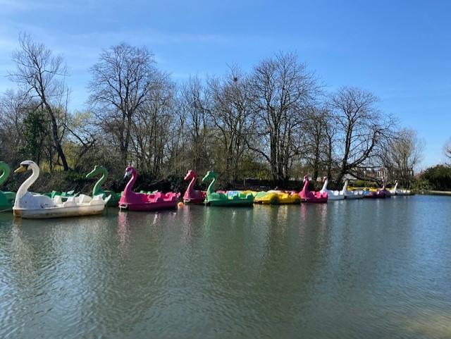 Barcas para alquilar en el lago de Alexandra Palace