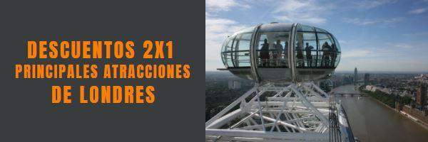 Descuentos 2x1 Atracciones de Londres, descubre Londres en español con nuestros tours