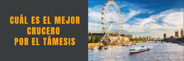 Cruceros por el Támesis, conoce Londres con nuestros tours gratis en español