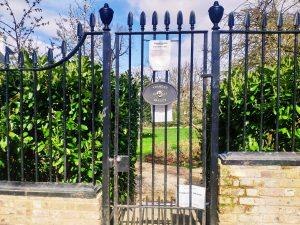 Jardín rodaje de la película Notting Hill