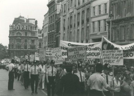 Manifestación del Orgullo en Londres 1973